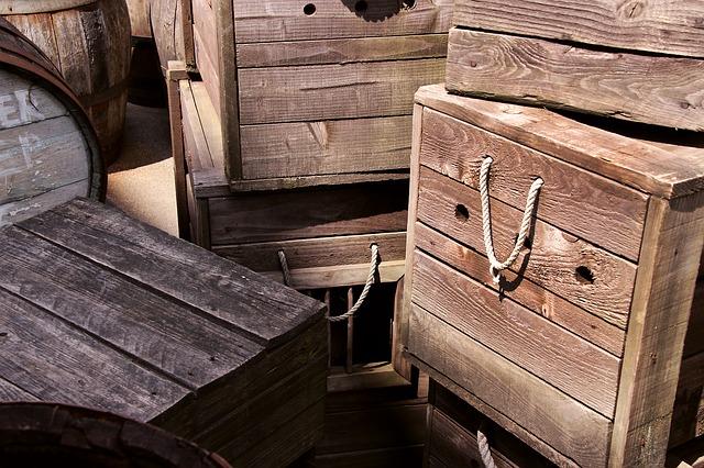 dřevěné bedny