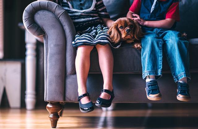 kokršpaněl mezi dětmi