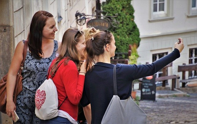 kamarádky se fotí
