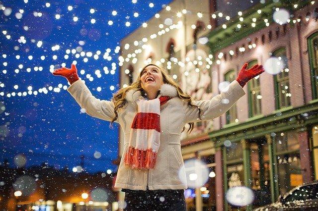 vánoční osvětlení ulice